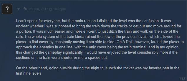 On a rail crit